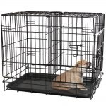 OxGord Double-Door Folding Metal Pet Crate