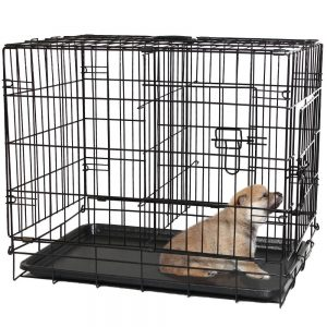 OxGord PT-CG-20 Double-Door Folding Metal Pet Crate