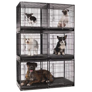 ProSelect Steel Modular Cage with Plastic Tray for many pets