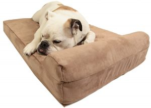 "Big Barker Mini - 4"" Pillow Top Dog Bed with Headrest for Small and Medium Sized Dogs"