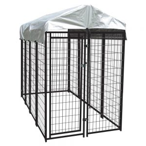 Lucky Dog Uptown Welded Wire Dog Kennel with Free Cover