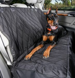 4Knines Rear Bench Seat Waterproof Non-Slip Cover with Hammock