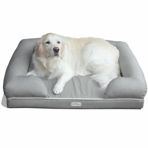 PetFusion Ultimate Pet Bed with a White Dog on it