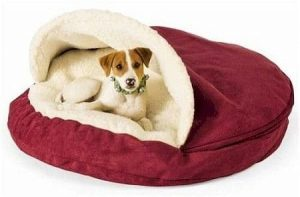 Snoozer Luxury Cozy Cave Pet Bed Red