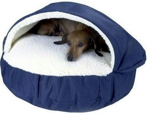 Snoozer Luxury Cozy Cave Pet Bed Blue