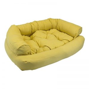 Snoozer Luxury Overstuffed Microsuede Pet Sofa Yellow