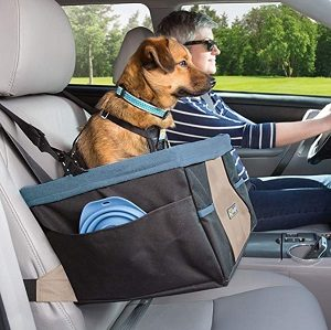 Kurgo Skybox Booster Seat for Dogs with dog