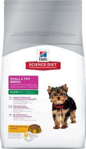 Hills Science Diet small and toy breed puppy food