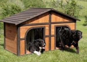 Merry Extra Large Solid Wood Dog House