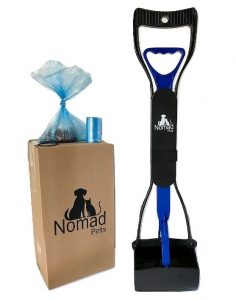 Nomad Pets Pooper Scooper Set for Dogs with Blue Poop Bags