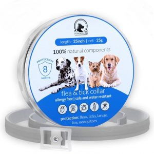 Flea and Tick Prevention+Control Collar for Dogs