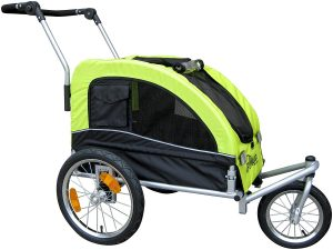 Booyah Medium Dog Stroller & Pet Bike Trailer