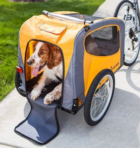 Schwinn Rascal Tow-Behind Bike Pet Trailers for Small and Large Dogs, 16-Inch Air-Filled Wheels, Folding Design