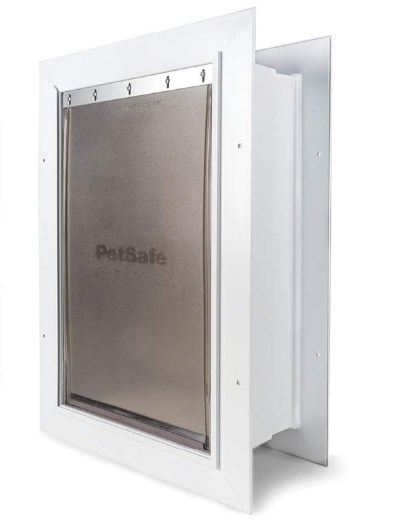 PetSafe New Wall Entry Dog and Cat Door – Pet Door with Telescoping Tunnel