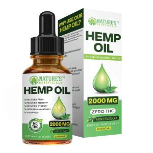 Organic Hemp Oil Extract Drops 2000mg