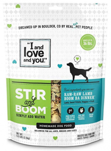 I and love and you Stir & Boom Dehydrated Freeze Dried Raw Dog Food