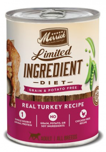 Merrick Limited Ingredient Diet Grain-Free Real Turkey Recipe Canned Dog Food