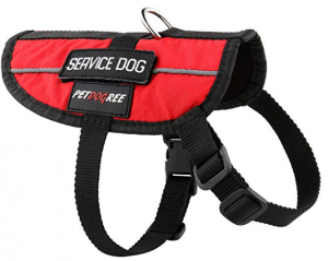 Petdogree Lightweight Reflective Red Service Dog Vest