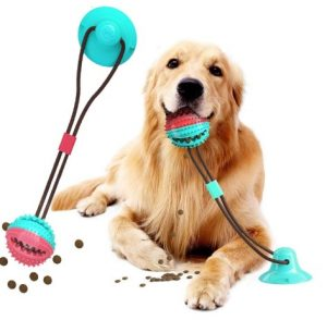 Suction Cup Dog Toy, Upgraded Dog Chew Toy Molar Bite Interactive Dog Toys