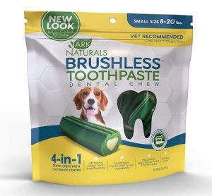 Ark Naturals Brushless Toothpaste, Dog Dental Chews for Small Breeds, Vet Recommended for Plaque, Bacteria & Tartar Control