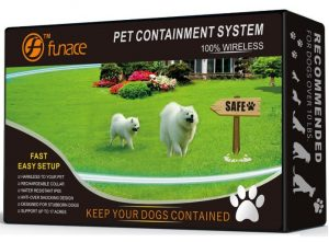 1 Dog Wireless Pet Containment System - Rechargeable and Waterproof Collar - 100% Safe & Easy to Install WiFi Radio Dog Fence