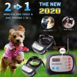 JUSTPET Wireless Dog Fence & Remote Electric Training Dog Collar Outdoor 2-in-1 System, Adjustable Control Range, Waterproof Reflective Stripe Collar