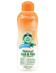 TropiClean Natural Flea and Tick Maximum Strength Shampoo for Dogs