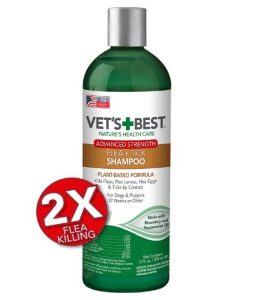 Vet's Best Flea and Tick Advanced Strength Dog Shampoo Flea Killer with Certified Natural Oils