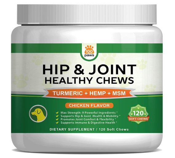 Hip & Joint Supplement for Dogs - Hemp Oil Infused Soft Chews Dog Treats