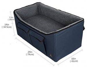 Lookout Booster Car Seat Raised Pet Bed at Home for 2 Small Dogs, Cats and Large Dog