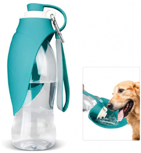Dog Water Bottle for Walking, TIOVERY Pet Water Dispenser Feeder Container portable with Drinking Cup