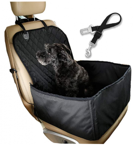 Flow.month Dog car seat Dog Safety seat Pet Front Seat Cover Pet Booster Seat