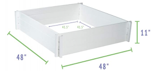 Elevated Square White Planter Box