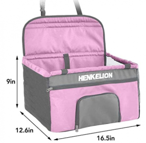 Henkelion Pet Dog Booster Seat, Deluxe Pet Booster Car Seat for Small Dogs Medium Dogs
