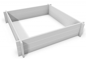 Hudson 48W x 48L Screwless Vinyl Garden Bed