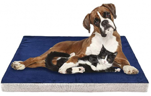 INVENHO Memory Foam Dog Bed Orthopedic Joint-Relief Removable