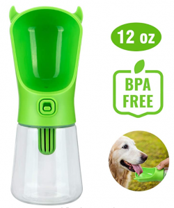 LC-dolida Pet Travel Water Drinking Bottle Dispenser with Filter, Anti-Leak for Dog