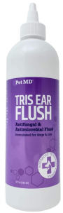 Pet MD Veterinary Tris Flush Cat & Dog Ear Cleaner