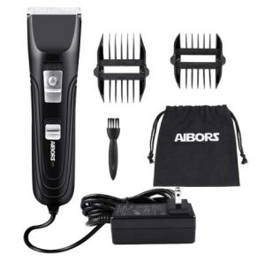 AIBORS Dog Clippers Shaver 12V High Power for Thick Heavy Coats Quiet Plug-in Pet Electric Professional Hair Grooming Clippers kit