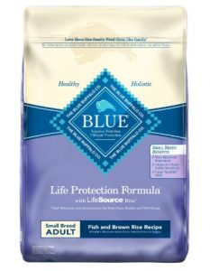 Blue Buffalo Life Protection Formula Small Breed Dog Food – Natural Dry Dog Food for Adult Dogs – Fish and Brown Rice