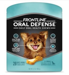 Frontline Oral Defense Daily Dental Chews for Dogs