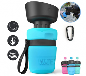 lesotc Pet Water Bottle for Dogs, Dog Water Bottle Foldable