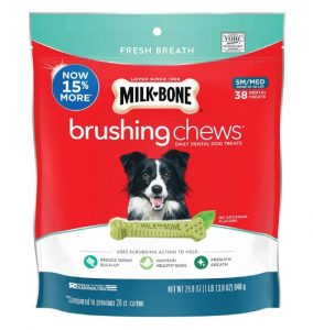 Milk-Bone Fresh Breath Brushing Chews Daily Dental Dog Treats
