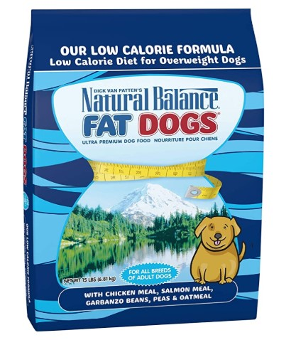 Natural Balance Fat Dogs Low Calorie Dry Dog Food for Overweight Dogs