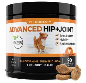 PetHonesty Glucosamine for Dogs - Dog Joint Supplement Support for Dogs with glucosamine Chondroitin, MSM, Turmeric