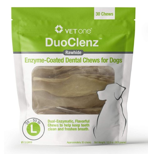 VetOne - DuoClenz Rawhide Dental Hygenic Chews for Dogs