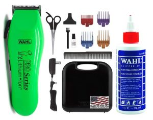 WAHL Lithium Ion Pro Series Cordless Animal Clippers – Rechargeable Quiet Low Noise Heavy-Duty Electric Dog & Cat Grooming Kit