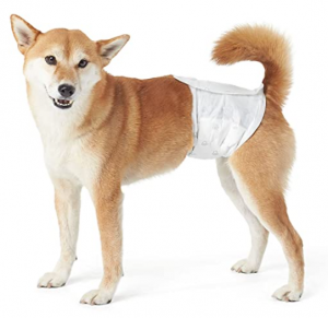 AmazonBasics Male Dog Wrap, Disposable Diapers - Pack of 30