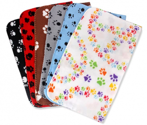 Comsmart Warm Paw Print Blanket Bed Cover for Dogs and Cats