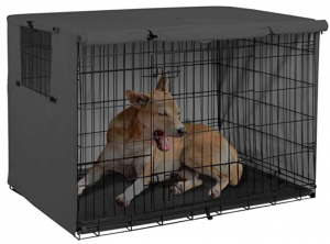 Explore Land Dog Crate Cover Durable - Polyester Pet Kennel Cover Universal Fit